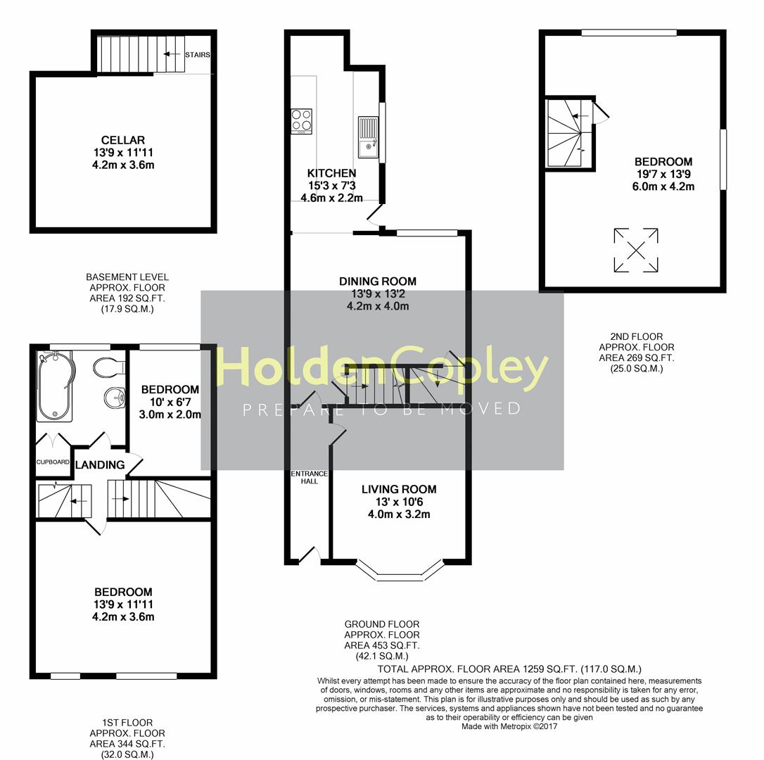Floorplan for Woodborough Road, Mapperley, Nottingham, NG3 5HB