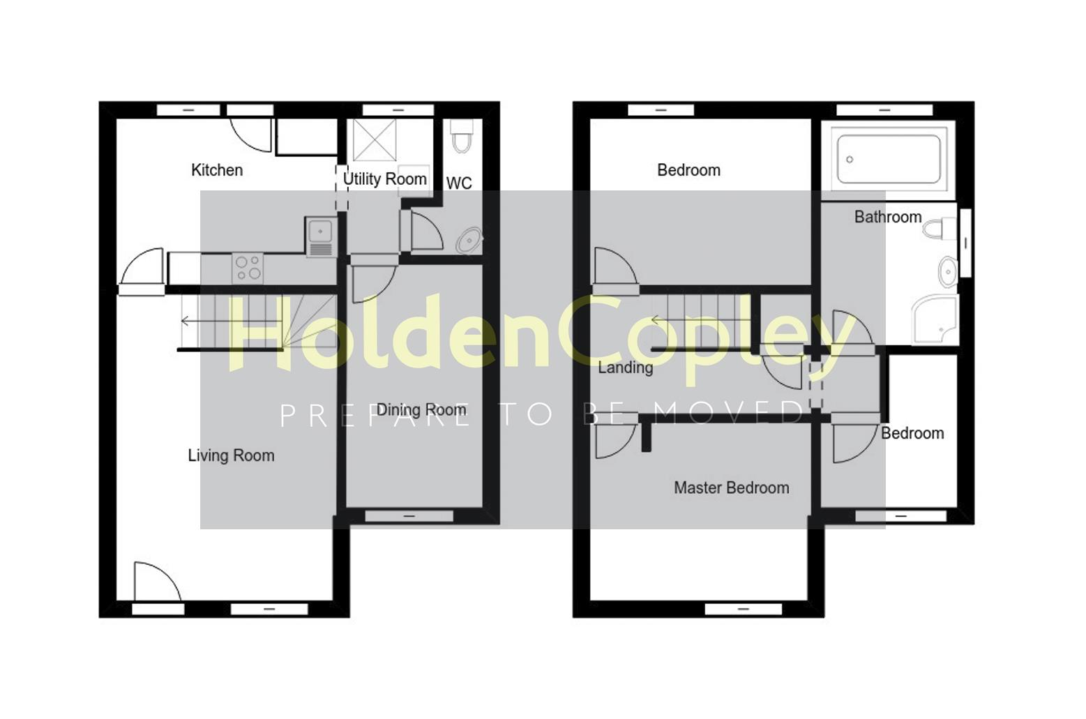 Floorplan for Torvill Drive, Wollaton, Nottinghamshire, NG8 2BU