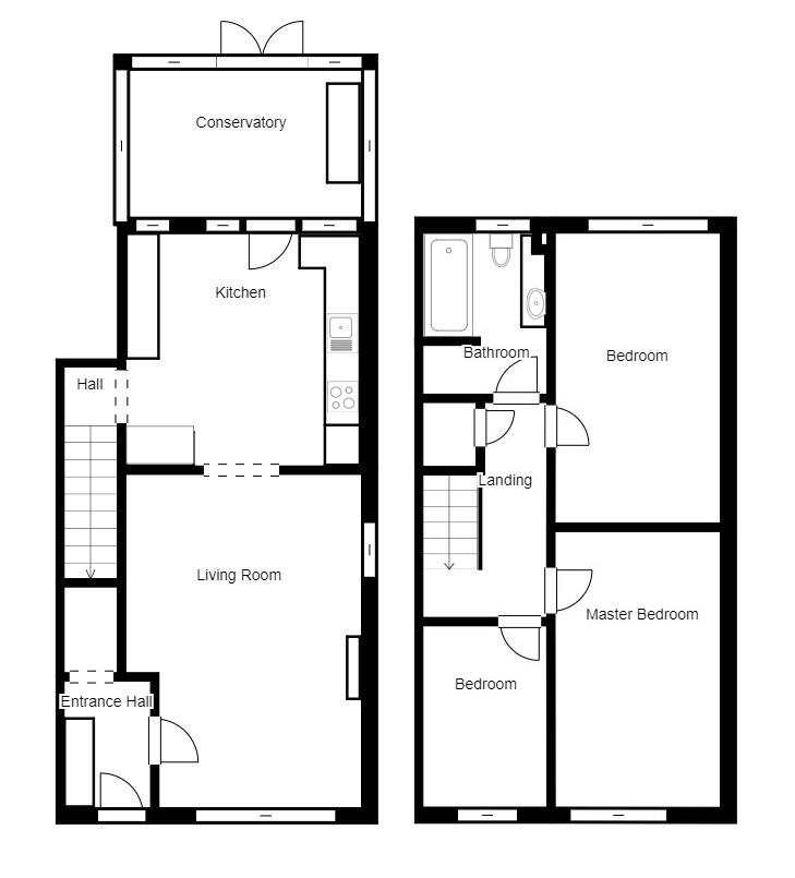 Floorplan for Saxon Way, Cotgrave, Nottinghamshire, NG12 3NX