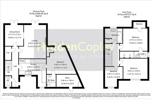 Floorplan for Park Lane, Burton Waters, Lincolnshire, LN1 2WP