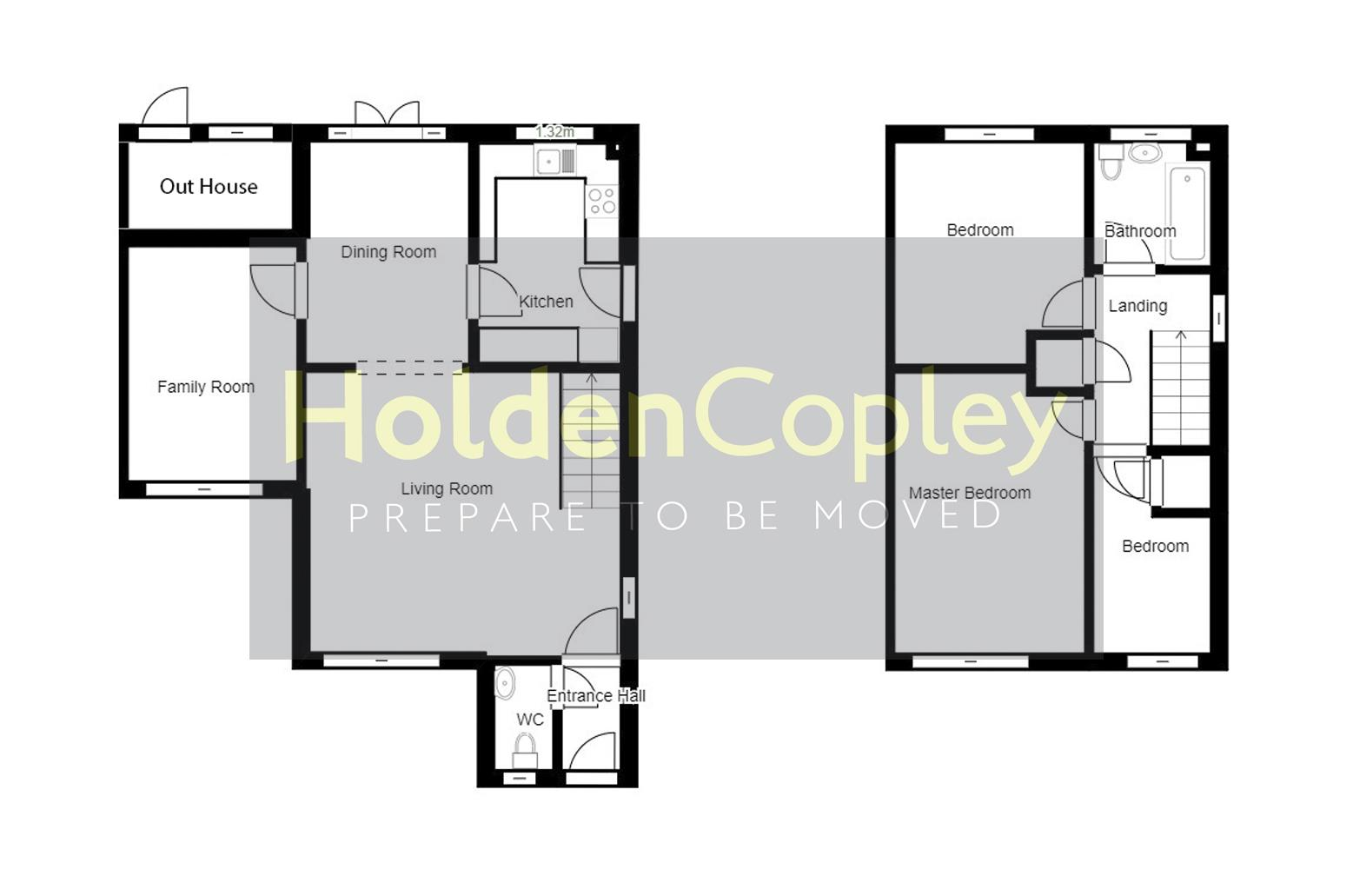 Floorplan for Claremont Drive, West Bridgford, Nottinghamshire, NG2 7LW