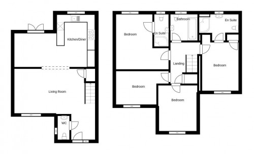Floorplan for Byron Close, Colwick, Nottinghamshire, NG2 4BL