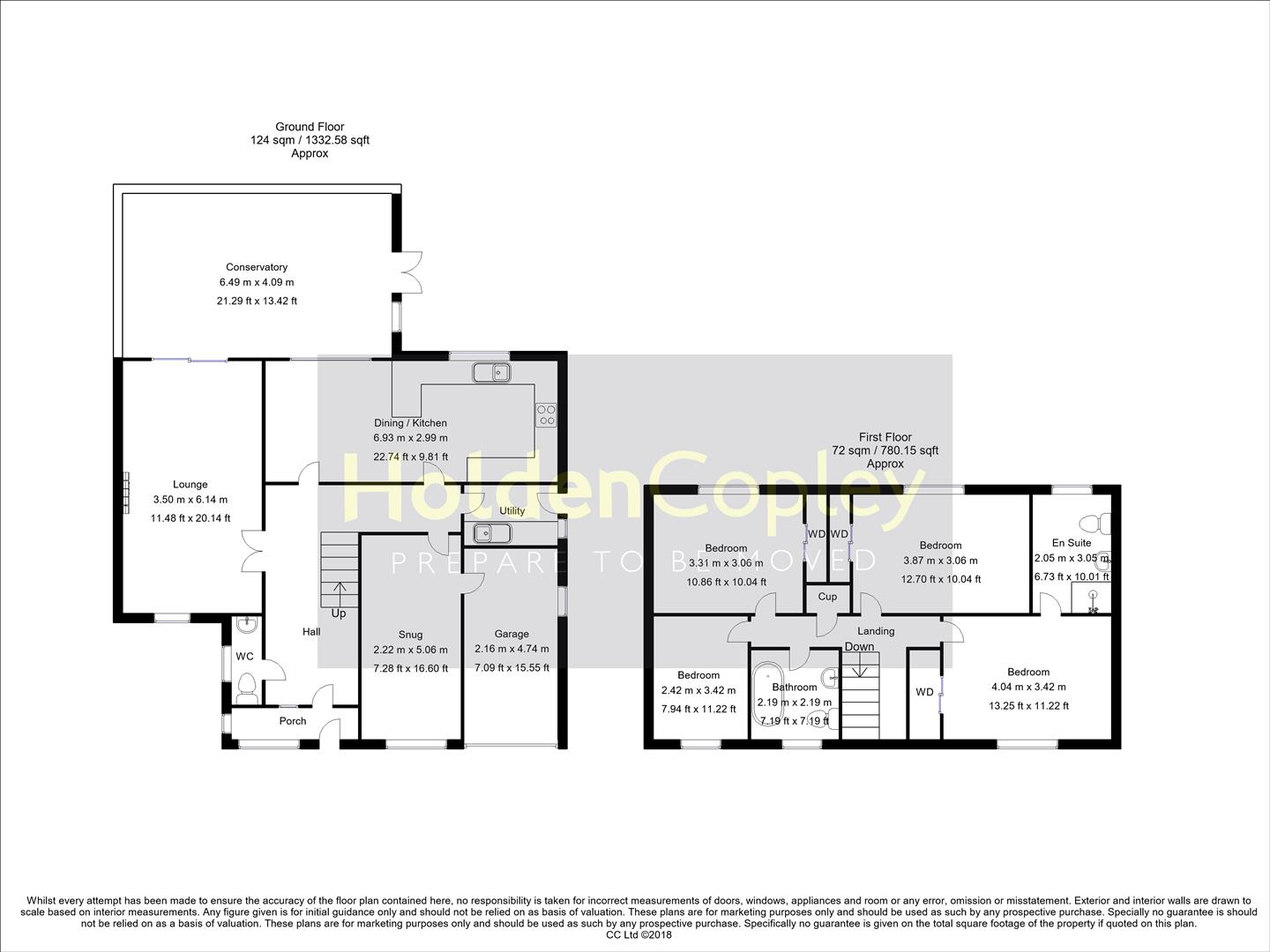 Floorplan for Mulberry Close, West Bridgford, Nottinghamshire, NG2 7SS