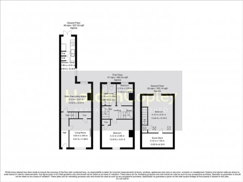 Floorplan for Glapton Road, The Meadows, Nottinghamshire, NG2 2FE