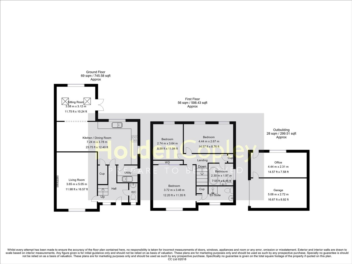 Floorplan for Finsbury Park Close, West Bridgford, Nottinghamshire, NG2 7EW