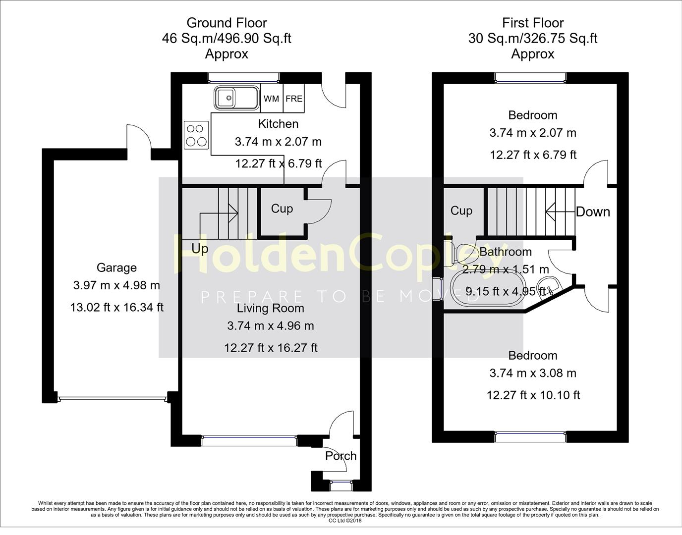 Floorplan for Lawrence Avenue, Colwick, Nottinghamshire, NG4  2GS