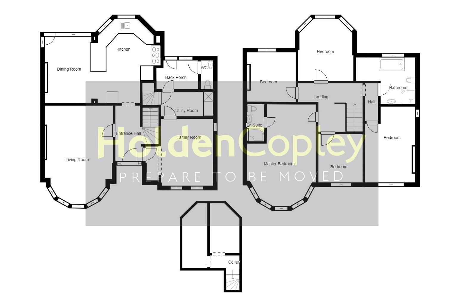 Floorplan for Ebers Road, Mapperley Park, Nottinghamshire, NG3 5DY