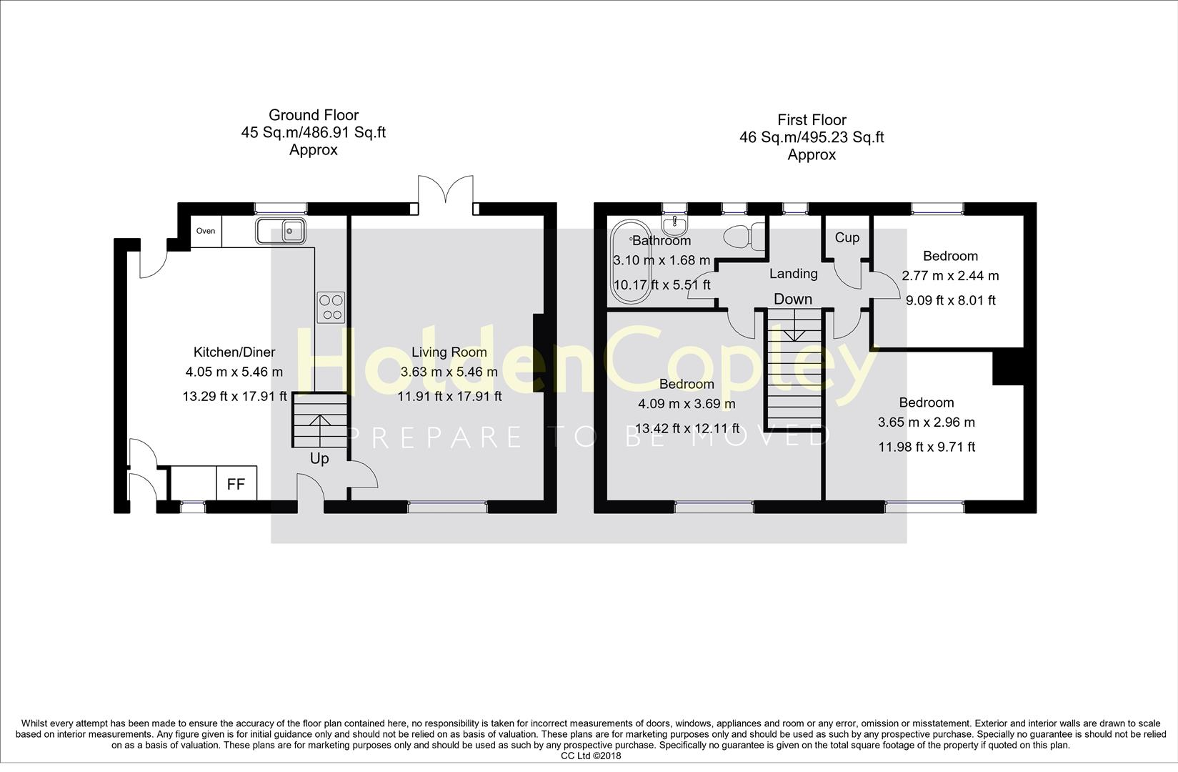 Floorplan for Manor Road, Keyworth, Nottinghamshire, NG12 5GL