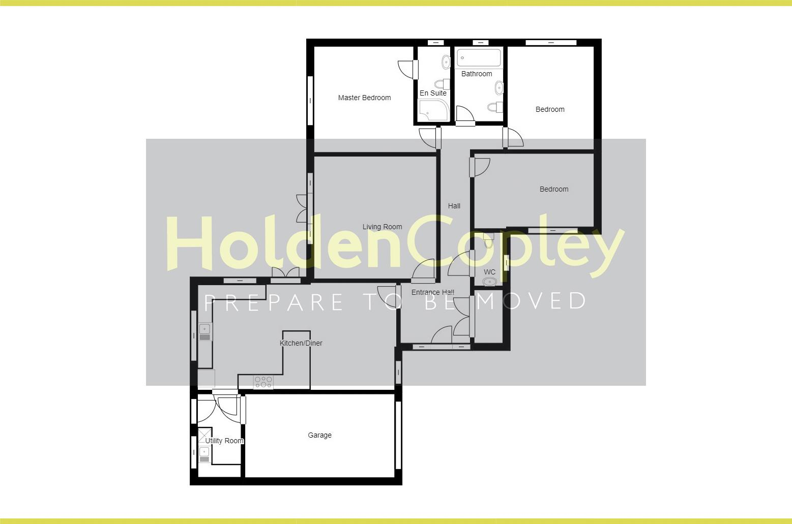 Floorplan for Priory Avenue, Tollerton, Nottinghamshire, NG12 4EE