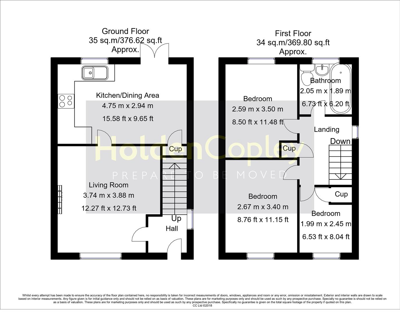 Floorplan for Elterwater Drive, Gamston, Nottinghamshire, NG2 6PX