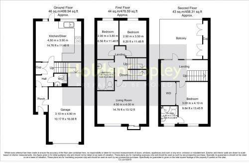Floorplan for Hunter Street, The Meadows, Nottinghamshire, NG2 2AB