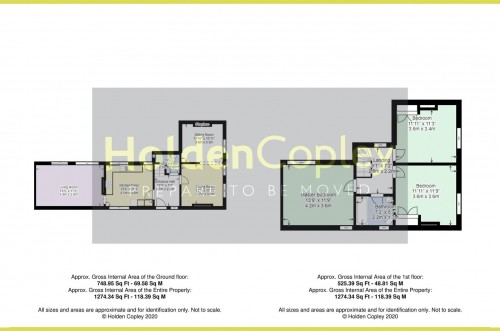 Floorplan for Rose Grove, Keyworth, Nottinghamshire, NG12 5HE