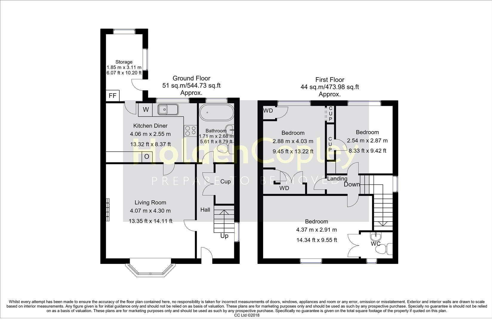 Floorplan for Abbott Crescent, Farnsfield, Newark, Nottinghamshire, NG22 8LN