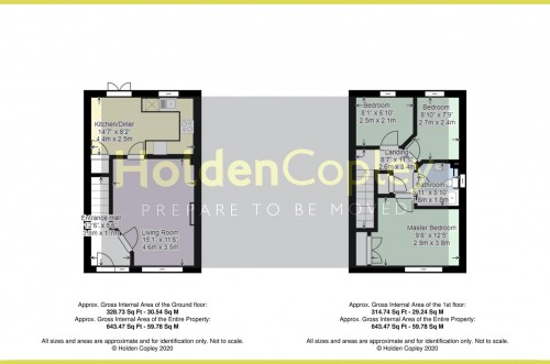 Floorplan for Revena Close, Colwick, Nottinghamshire, NG4 2BR