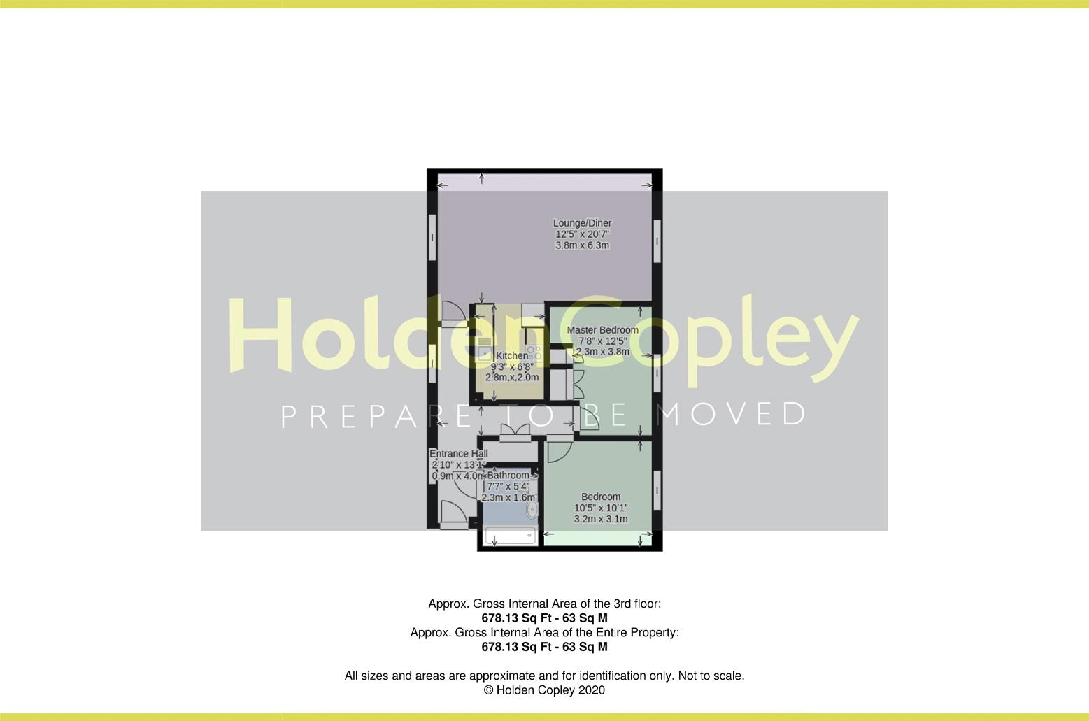 Floorplan for Cooper Gardens, Ruddington, Nottinghamshire, NG11 6AZ