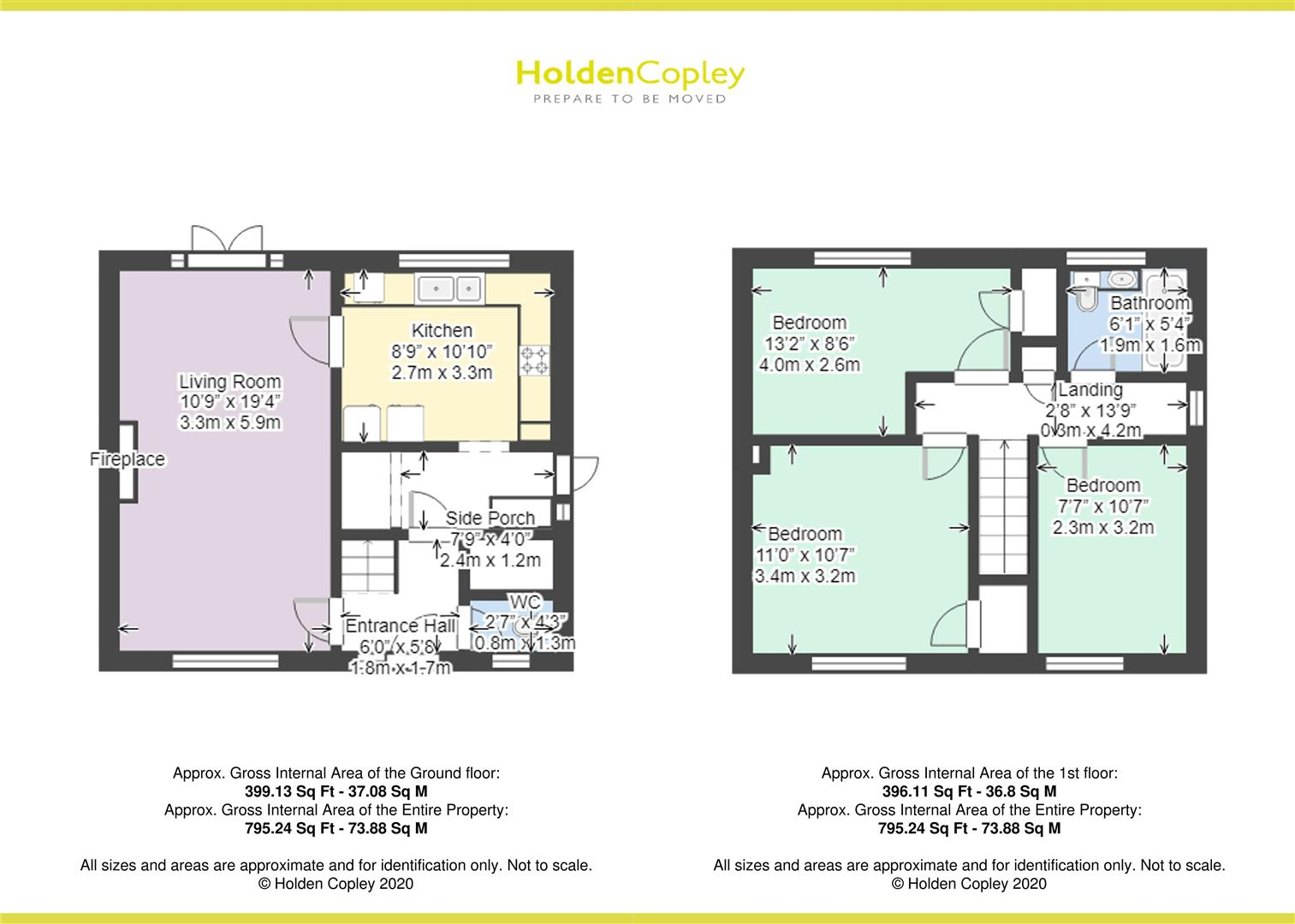 Floorplan for Lansing Close, Clifton, Nottinghamshire, NG11 9AR